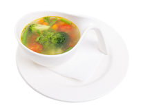 Bowl of minestrone soup with pesto. Stock Image