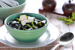 A bowl of miso soup Royalty Free Stock Image