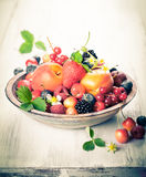 Bowl of mixed berries Royalty Free Stock Photo