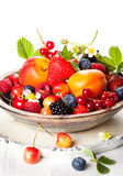 Bowl of mixed berries Stock Photos
