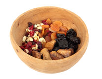 Bowl of mixed dried fruits Stock Photos