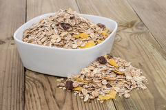 Bowl with mixed Muesli Stock Photography