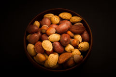 Bowl of mixed nuts Stock Photo
