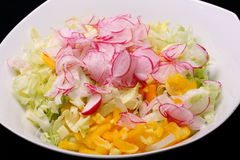 Bowl with mixed salad Stock Photo