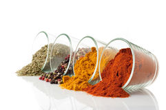 Bowl with mixed spices stock photos