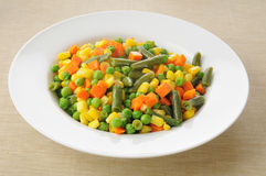 Bowl of mixed vegetables Stock Photo