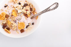 Bowl of muesli Royalty Free Stock Photography