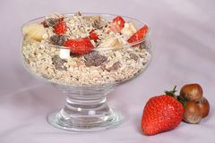 Bowl of muesli Stock Photography
