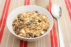 A bowl of muesli Royalty Free Stock Photos