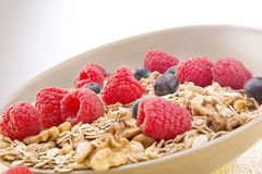 Bowl of muesli and berries Royalty Free Stock Photo