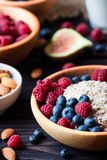Bowl of muesli with berries Royalty Free Stock Photos