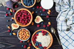 Bowl of muesli with berries Stock Images