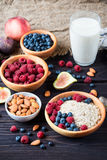 Bowl of muesli with berries Royalty Free Stock Photography