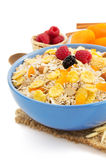 Bowl of muesli cereals Royalty Free Stock Photos