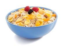 Bowl of muesli cereals Stock Photos