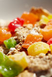 Bowl of muesli with fresh fruits Royalty Free Stock Images