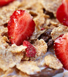 Bowl of muesli with fresh fruits Royalty Free Stock Photo
