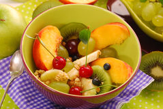 Bowl of muesli with fruits Royalty Free Stock Image