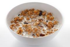 Bowl of muesli with milk Royalty Free Stock Photo