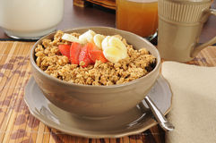 Banana nut granola Stock Image