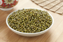 Bowl with Mung beans Stock Photo