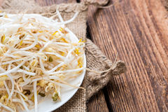 Bowl with Mungbean Sprouts Royalty Free Stock Images