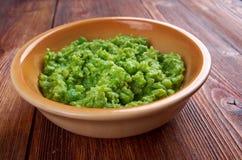 Bowl of mushy peas, Stock Image