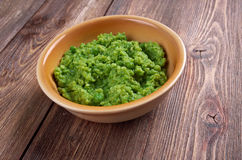 Bowl of mushy peas, Stock Images