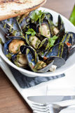 Bowl of Mussels Royalty Free Stock Image