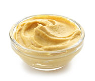 Bowl of mustard Royalty Free Stock Images