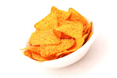 Bowl of Nacho Chips Royalty Free Stock Image