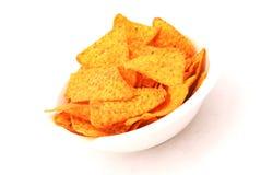 Bowl of Nacho Chips Royalty Free Stock Image