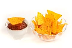 Bowl, Nachos Stock Photo