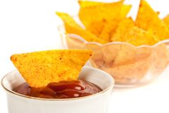 Bowl, Nachos Stock Photos
