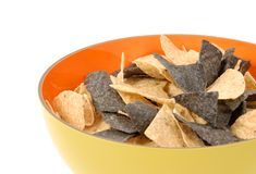 Bowl of Nachos Stock Photos