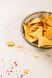 Bowl of nachos Royalty Free Stock Image