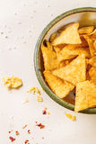 Bowl of nachos Royalty Free Stock Photos