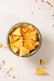 Bowl of nachos Stock Photo