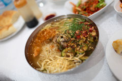 Bowl of naengmyeon Stock Photography