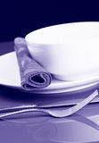 Bowl and Napkin Royalty Free Stock Images
