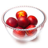 Bowl of nectarines Stock Image