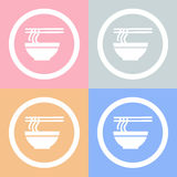 Bowl of noodle icon Vector EPS10, Great for any use. Stock Photography