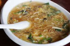 Bowl of noodle soup, China. Bowl of noodle soup. Anshan, Liaoning, China stock images