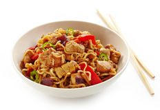 Bowl of noodles Royalty Free Stock Photos