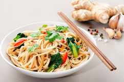 Bowl of noodles Royalty Free Stock Images