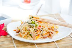 Bowl of noodles with vegetables Royalty Free Stock Photo