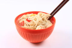 A bowl of noodles Royalty Free Stock Photos