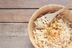 Bowl of noodles royalty free stock image