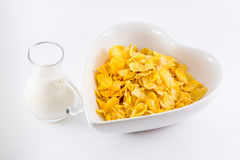 A bowl of nutritious and delicious corn flake cereal Stock Photo