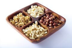 Bowl with nuts Royalty Free Stock Images